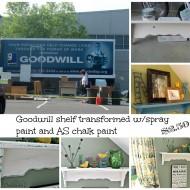 Goodwill shelf transformation