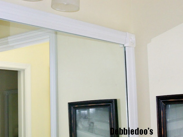 Adding molding to builder grade mirrors