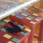 Diy painted and stenciled bar stools