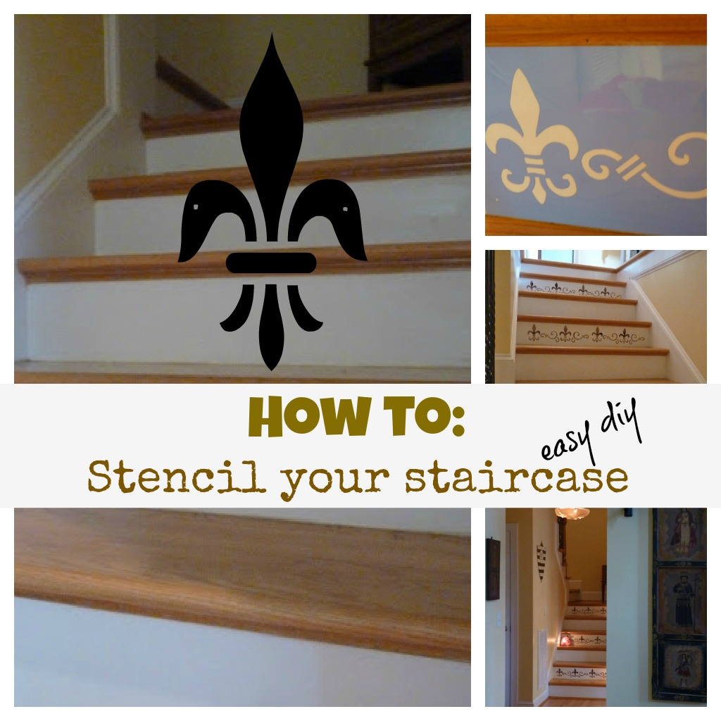 diy stenciled staircase