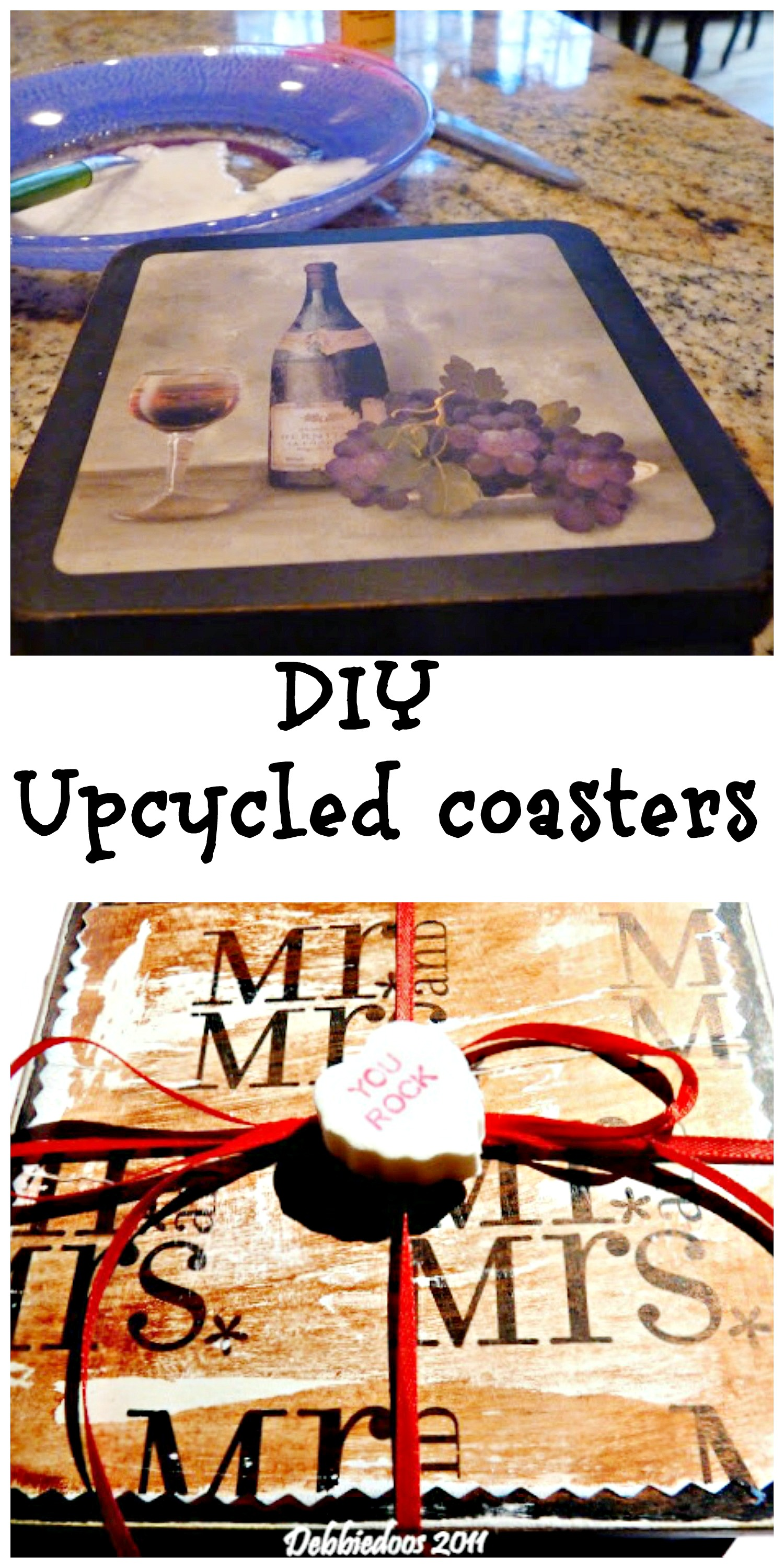 diy upcycled coasters