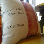 stenciled no-sew pillow