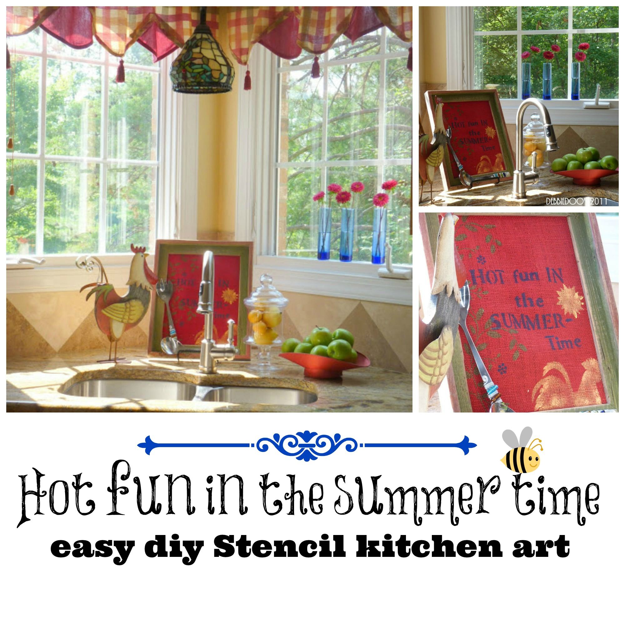 Hot fun in the summer time, easy diy kitchen art (1)