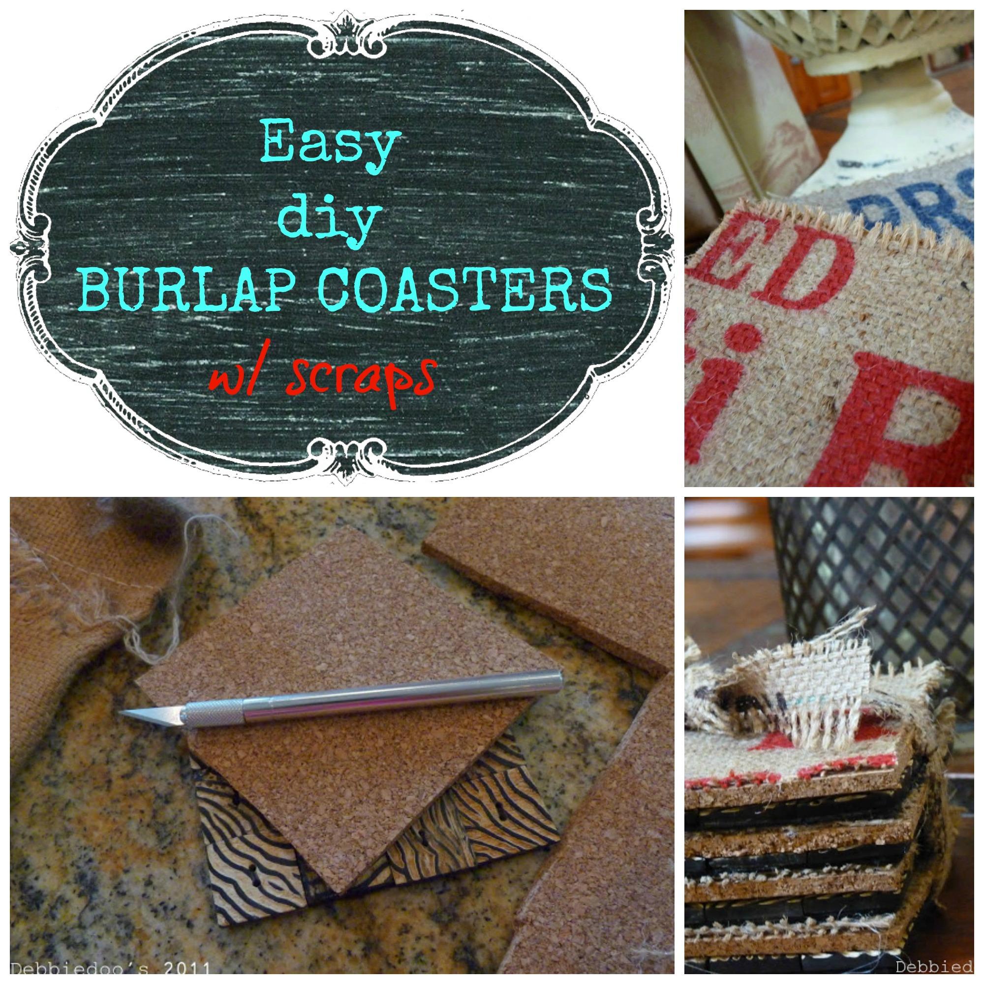 diy burlap coasters