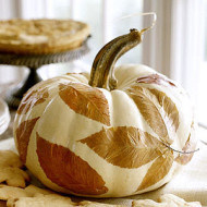 Decorating with White pumpkins!