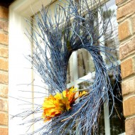 Spray painted twig wreath