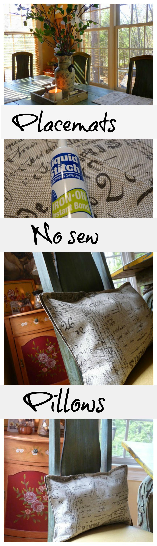 diy no sew placemat pillows