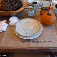 Burlap table placemats