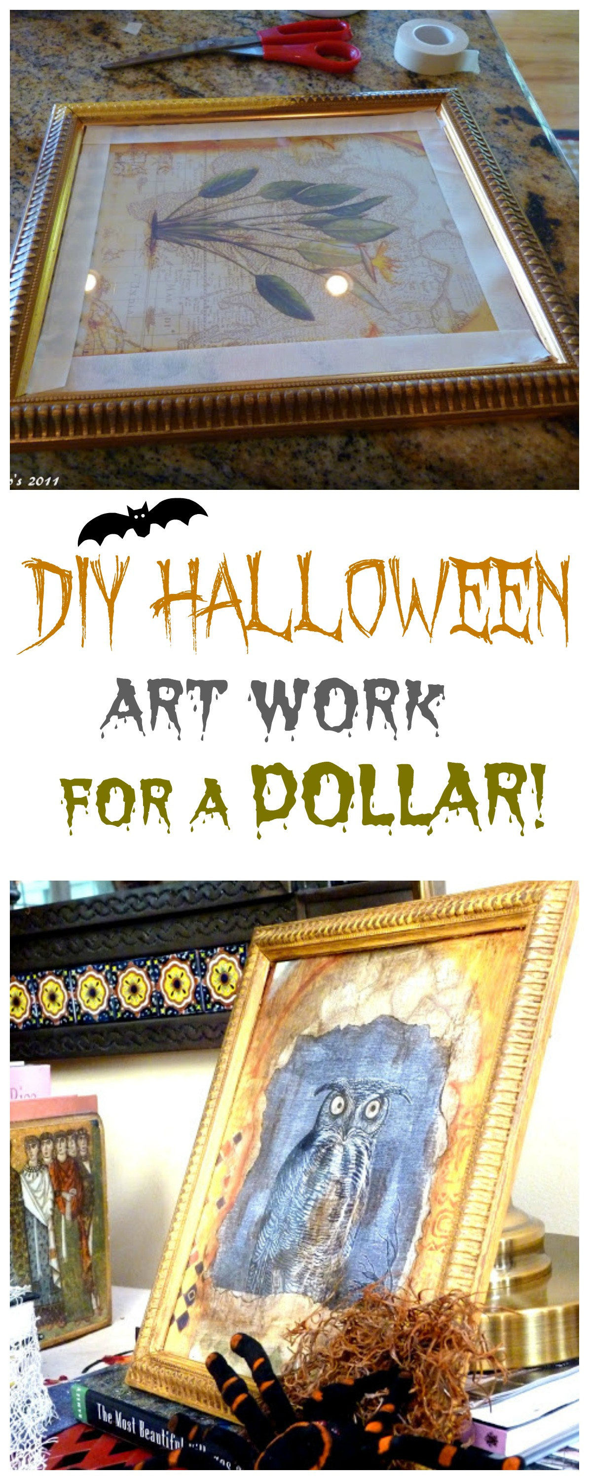 Halloween art work for a dollar