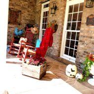 Fall porch decorating Part II