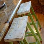 stenciled bar stools