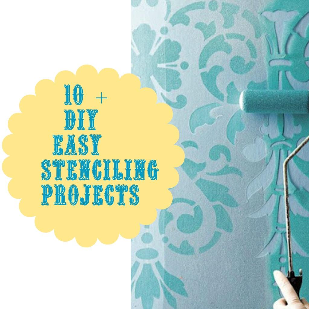 10 + Stenciling ideas {DIY} - Debbiedoo\'s