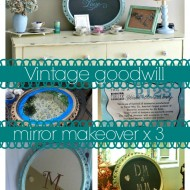 vintage mirror from goodwill chalkboard makeover