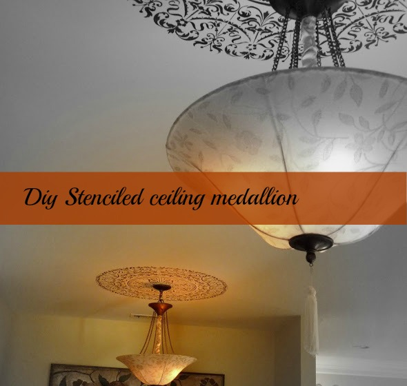 medallion diy Lampshade makeovers