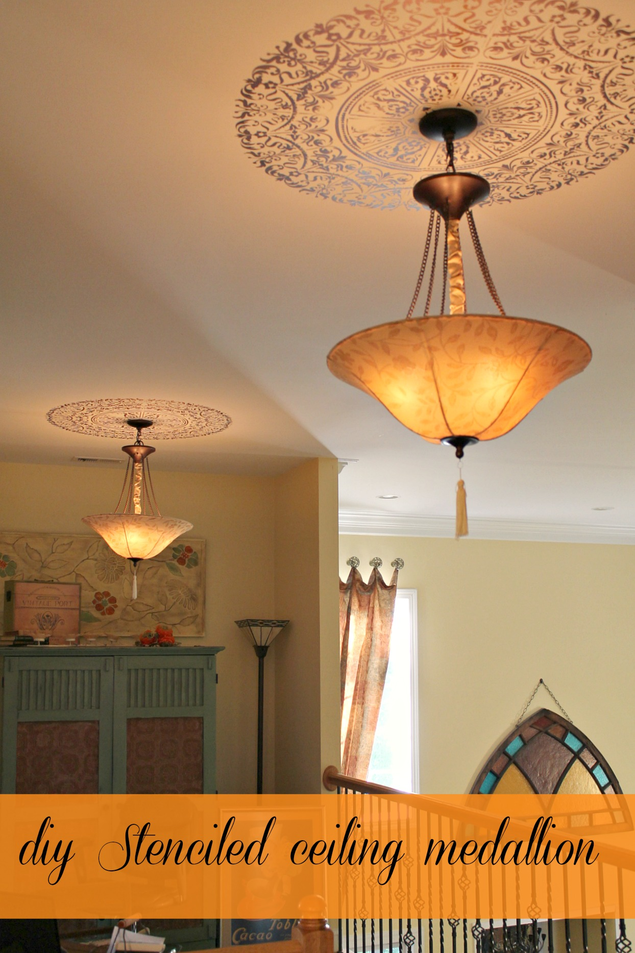 stenciled ceiling medallion