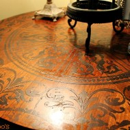 stenciled table top 003