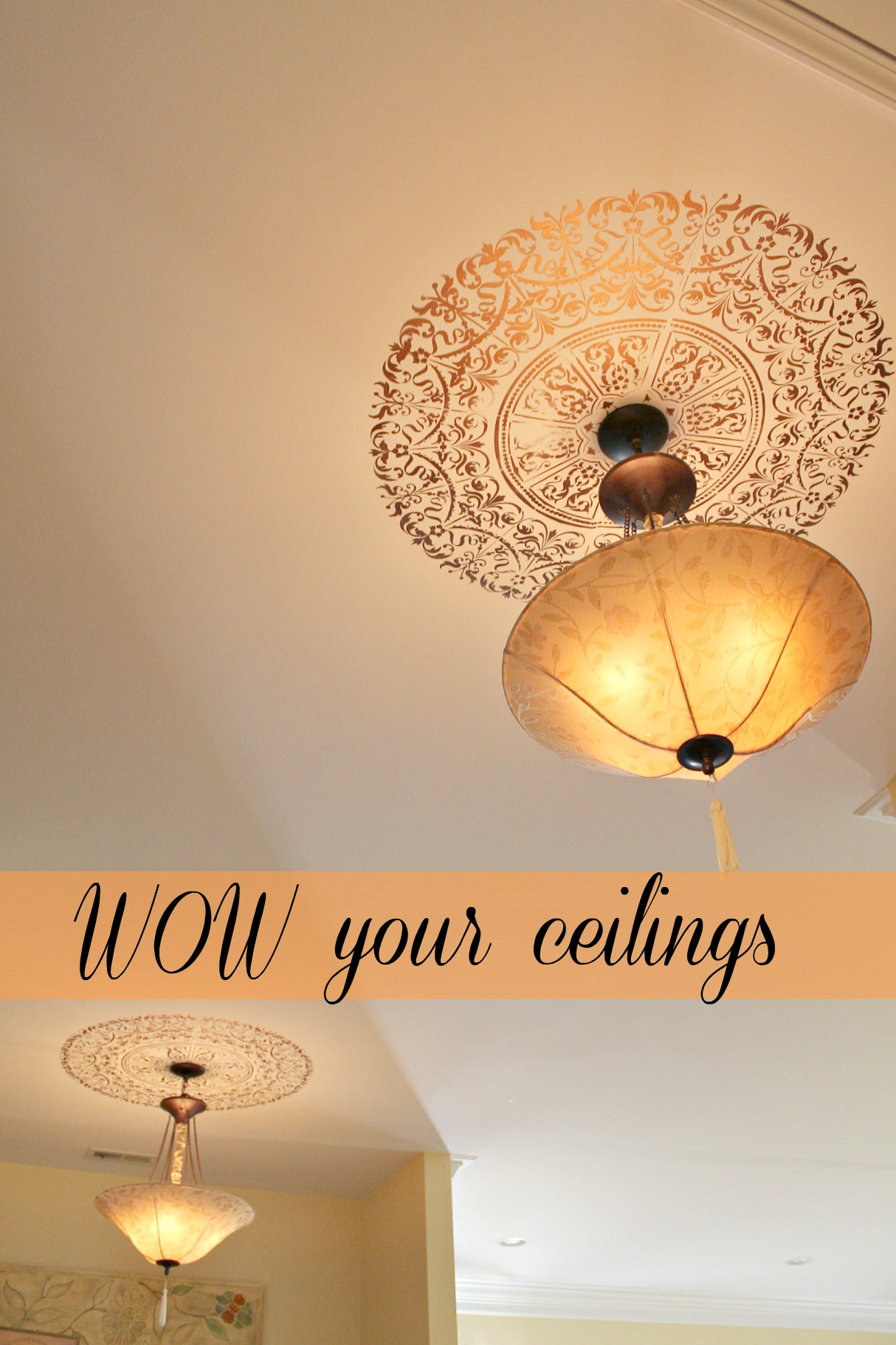 Stencil Ceiling Medallion My Personal Review Debbiedoo S