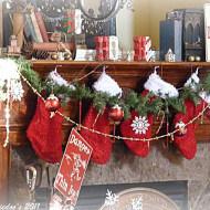 Christmas mantel {rustic, whimsy}
