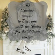 Decorating with Ice skates for the holidays!