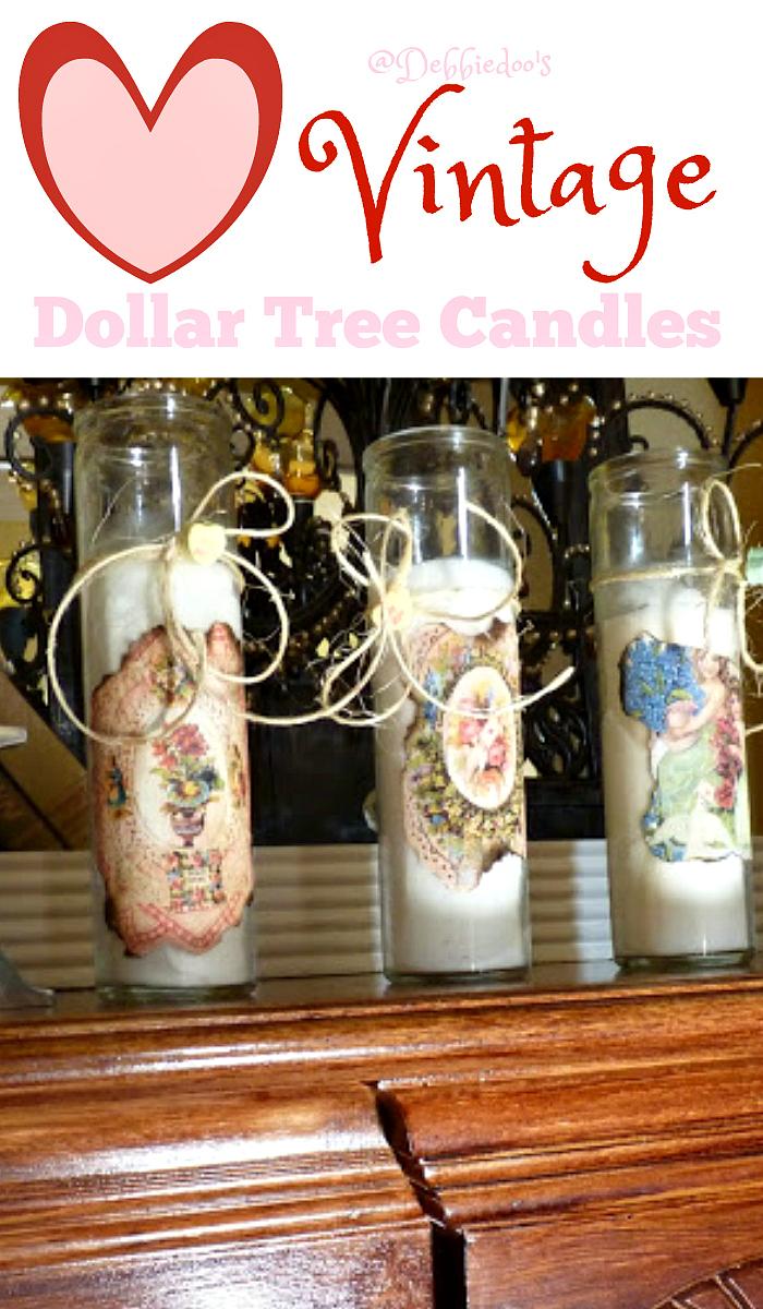 DIY Vintage dollar tree candles