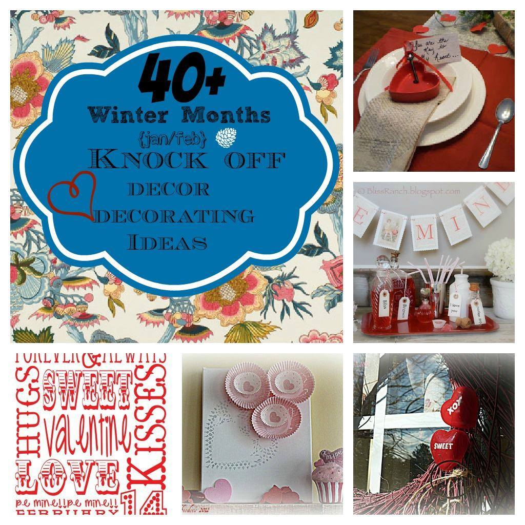 January Decorating Ideas: Valentine's Day Diy Craft And Winter Knock Off Decor