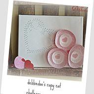 Valentines decor cupcake liner art