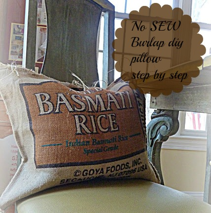 & DIY no Sew burlap pillow grain sacks - Debbiedoo\u0027s pillowsntoast.com