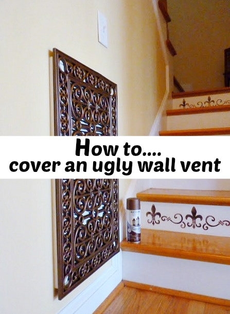 how to cover an ugly wall vent