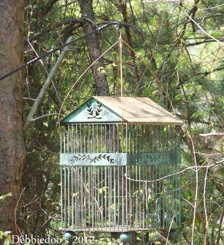 P1170408-937x1024 Shabby chic vintage bird cage