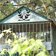 Shabby chic vintage bird cage