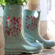 Garden boots repurposed