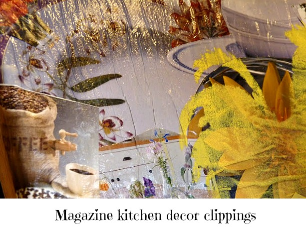 mod podge kitchen art