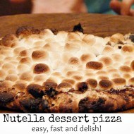 Nutella dessert pizza!