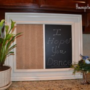 Laundry room makeover,Chalk board menu, Tablescapes, and a burlap craft!