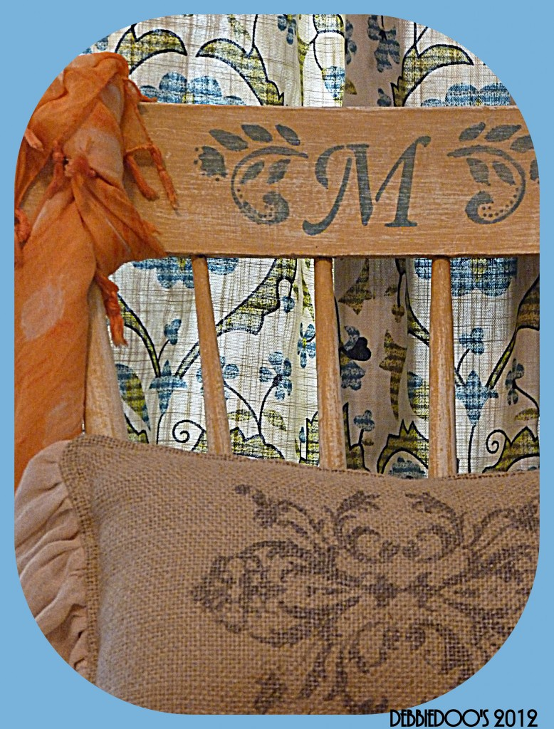 P1170951-778x1024 Thrift store chair, painted and stenciled {Magazine copy cat challenge inspiration}