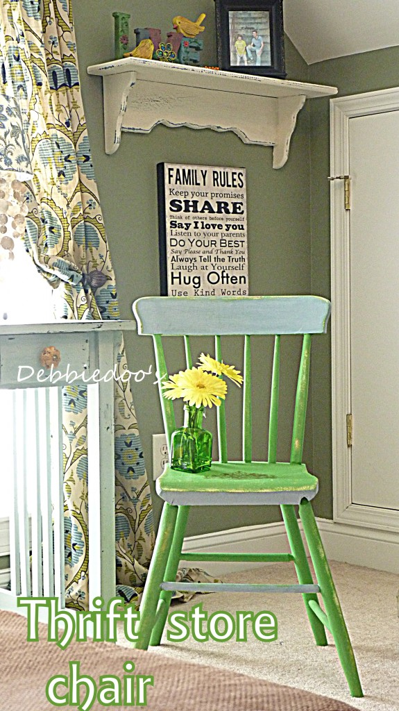 Thrift store chair painted two toned with Annie Sloan chalk paint ...