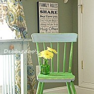 Thrift store chair painted two toned with Annie Sloan chalk paint