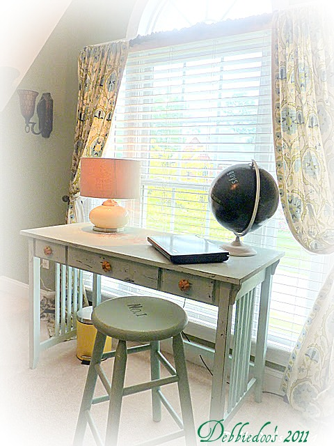 best-of Thrift store chair, painted and stenciled {Magazine copy cat challenge inspiration}