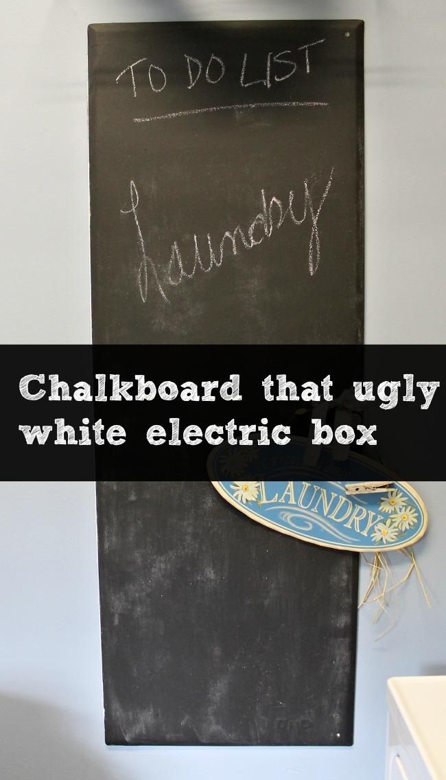 chalkboard electric box