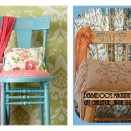 Thrift store chair, painted and stenciled {Magazine copy cat challenge inspiration}