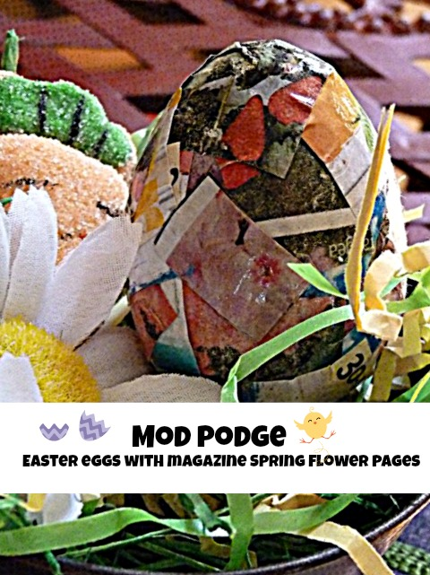 mod podge easter eggs