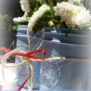 spray painted mason jars