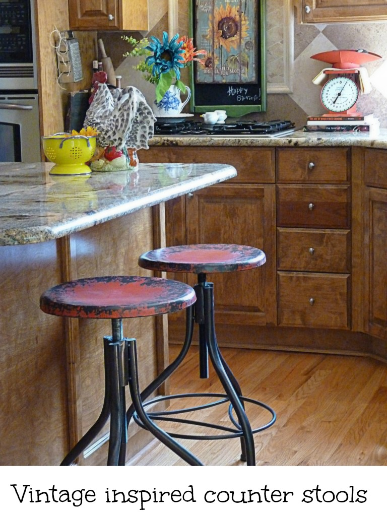 vintage inspired counter stools