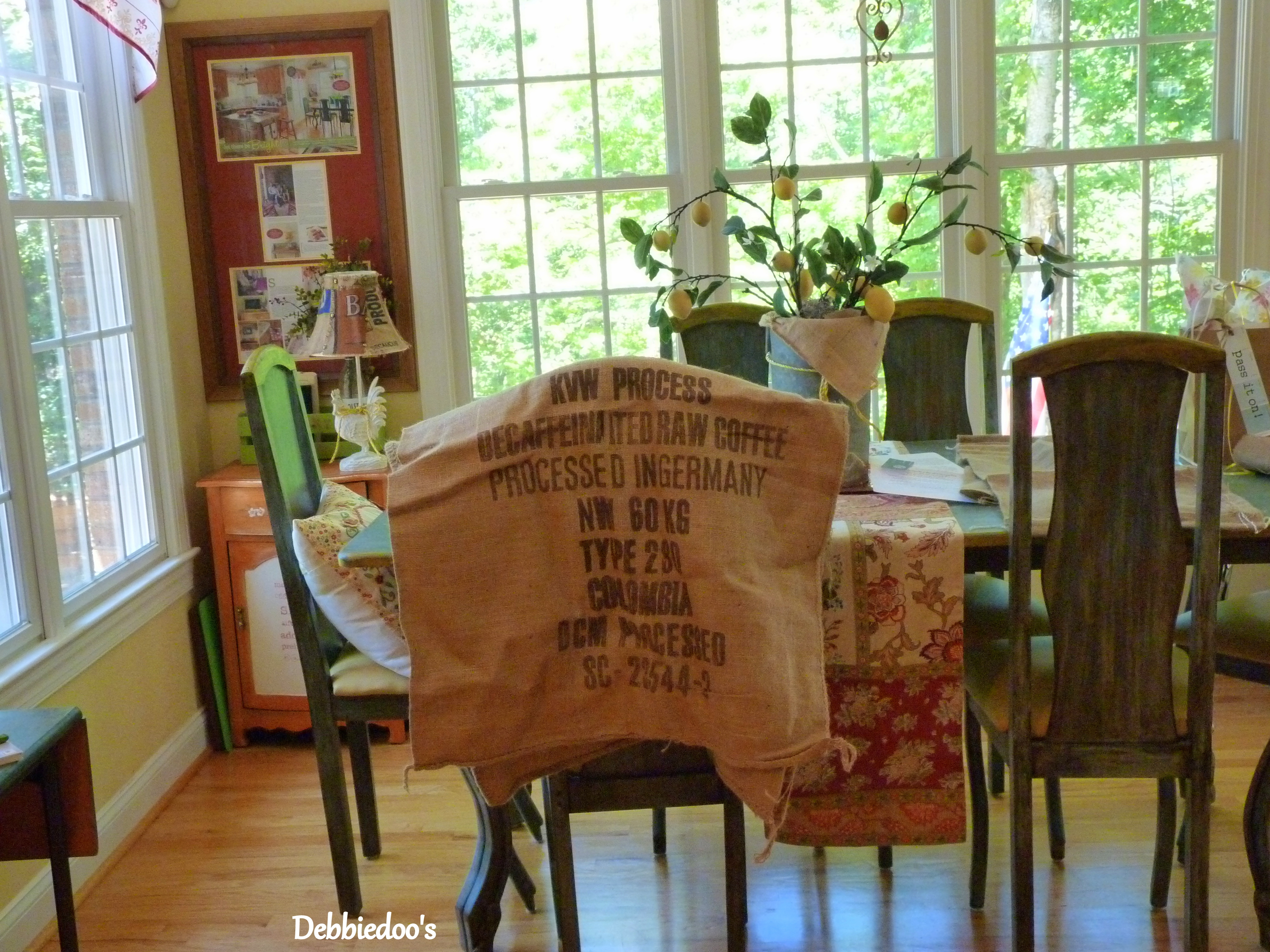 Burlap kitchen curtains no sew - Look At The Size Of These Coffee Bags