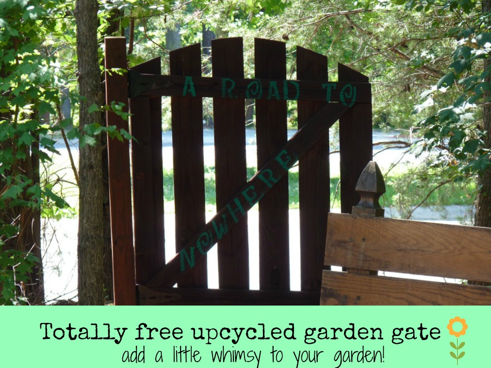Free upcycled garden gate