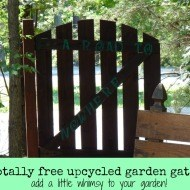 Upcycled garden gate