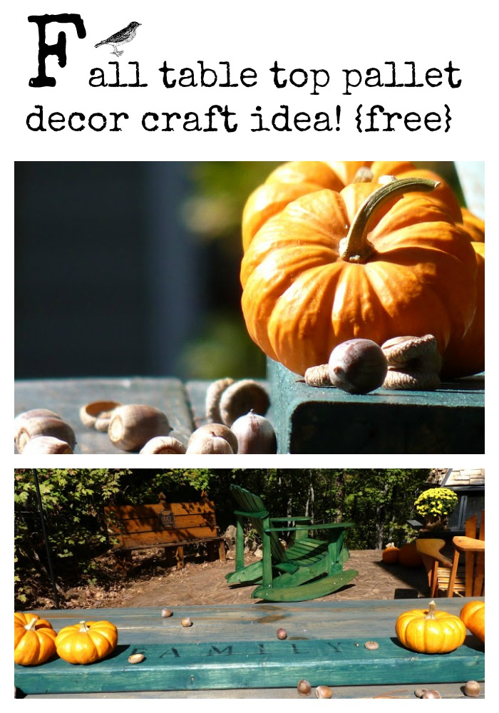 Fall table top pallet craft idea