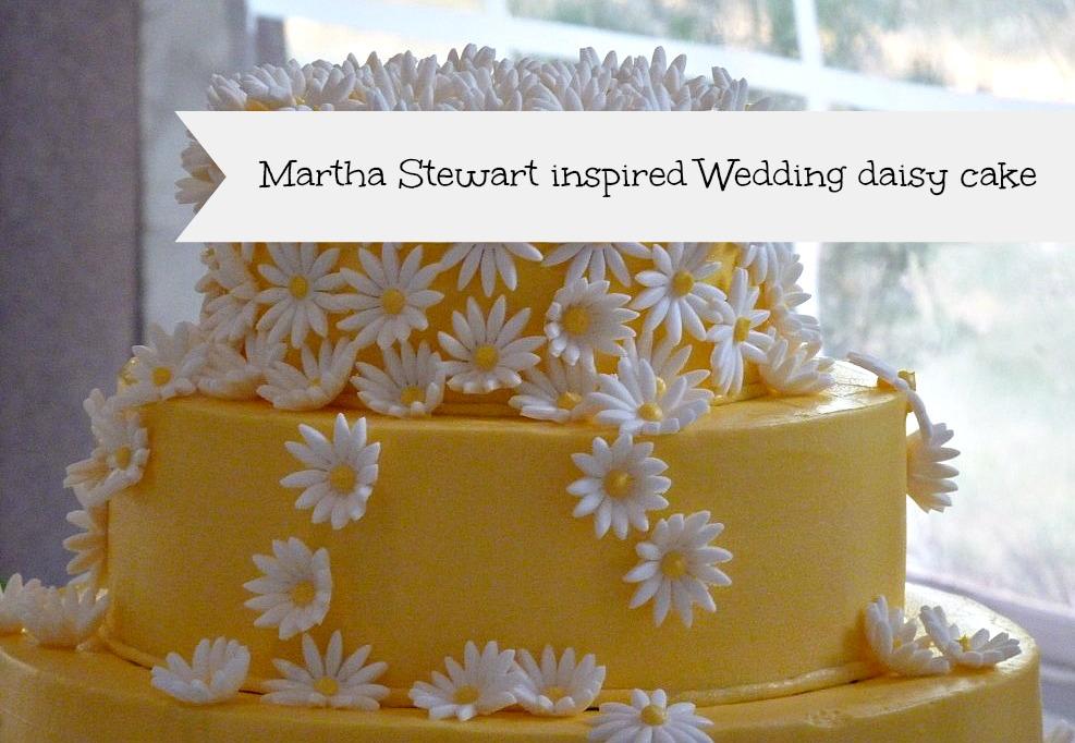 A Martha Stewart inspired wedding cake
