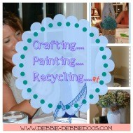 Crafting, recycling, painting on glass