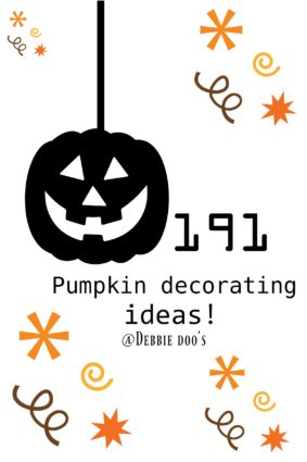 191 Pumpkin decorating ideas